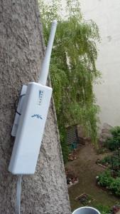 Ubiquiti PicoStation zur Versorgung des Gartens